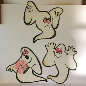 3 Vintage Beistle Ghost Halloween Party Decoration